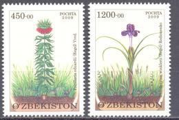 2010. Uzbekistan, Flowers, Protected Flora In Uzbekistan, 2v, Mint/** - Ouzbékistan