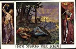 Artiste Cp Der Roi Von Siva, Skelett, Bunder Der Deutschen In Niederösterreich, Karte Nr. 56 - Contes, Fables & Légendes