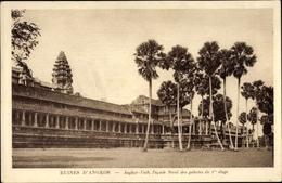 Cp Kambodscha, Angkor Wat, Facade Nord Des Galeries Du 1er Etage - China