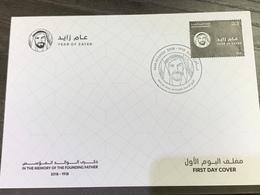 UAE 2019 Stamps 100 Years Of Sheikh Zayed FDC - United Arab Emirates