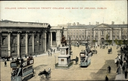 Cp Dublin Irland, College Greens Showing Trinity College, Bank Of Ireland - Irlande