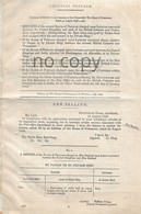 1850 - COLONIAL POSTAGE - PARLIAMENTARY DOCUMENT - RETURNS OF POSTAGE RATES BETWEEN THE UNITED KINGDOM AND BRITISH COLON - Post