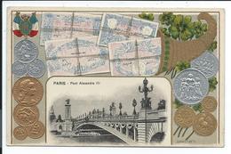 Representation Monnaies Fin XIX Ieme Début XX Ieme Siecle,paris Pont Alexandre III - Monnaies (représentations)