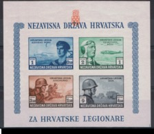 1943 Bloc **  Non Dentelé NDH - BO5 B Légion Croate Sur Le Front De L'Est - Superbe - - Croatie