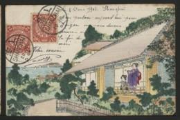 SHANGHAI - GEISHA ADMIRANT LE PAYSAGE - FAIT MAIN - 1904 - China