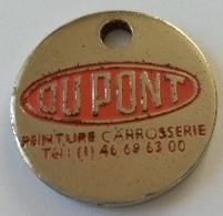 Jeton De Caddie - DUPONT - Peinture - Carrosserie - En Métal - - Trolley Token/Shopping Trolley Chip