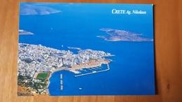 Creta Crete Agios Nikolaos Stadium Postcard Cartolina Stadio Stadion AK Carte Postale CP Stade Estadio - Calcio