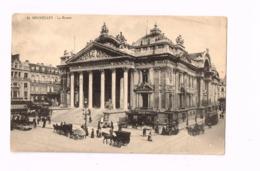 La Bourse.TRamway,Fiacres. - Monuments, édifices