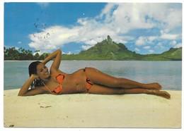 Polynésie Française Bora Bora Vahiné Photo Erwin Christian - Polynésie Française