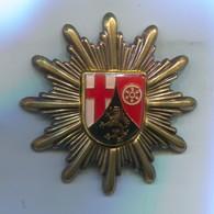Rheinland Pfalz Polizei, Federal Police Germany, Metal Insignia, Cap Badge, D 50 Mm - Police