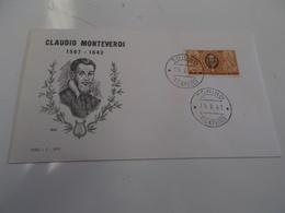 B710  F.d.c. Claudio Monteverdi - F.D.C.