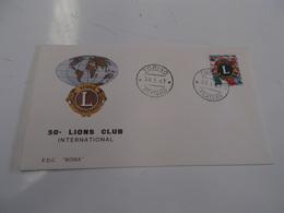 B710  F.d.c. Lions Club - F.D.C.