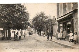 PLACE ET VUE DE LA LIBERTE - Villeneuve De Marsan