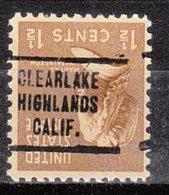USA Precancel Vorausentwertung Preo, Locals California, Clearlake Highlands 707 - Etats-Unis
