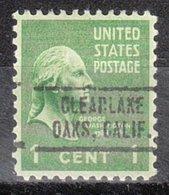 USA Precancel Vorausentwertung Preo, Locals California, Clearlake Oaks 736 - Vorausentwertungen