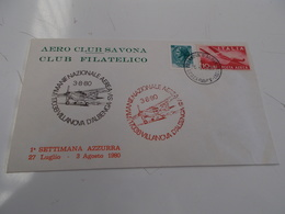 B710   Busta  Aereo Club Savona - F.D.C.