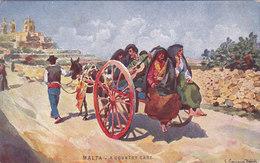 Malte A Country Cart Maltesse Types Series éditeur John Critten Illustrateur Caruana Dingli - Malta