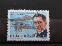 *ITALIA* USATI 2003 - PIONIERI AVIAZIONE CALDERARA - SASSONE 2702 - LUSSO/FIOR DI STAMPA - 6. 1946-.. Repubblica