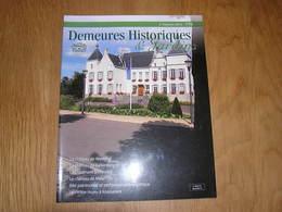 DEMEURES HISTORIQUES 179 Régionalisme Architecture Château Wemmel Bruxelles Gellenberg Stavelot Witte Huys Knesselare - Cultuur