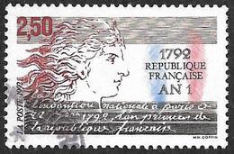FRANCE  1992  -  Y&T  2771  -  An 1° De La Republique -  Oblitéré - France