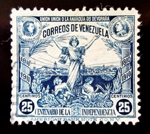 1910  Venezuela Yt 124 . Caracas, Bolivar, Miranda .  Independence Centennary - Venezuela