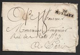 1792 - LAC - 28 MORLAIX 31mm X 9mm (FINISTERE) Pour PARIS - Marcophilie (Lettres)