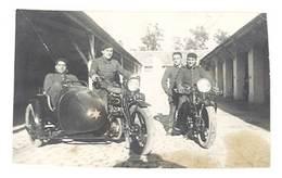 Photo Hommes Sur Moto Et Side-car, Militaires, Soldats - Photos