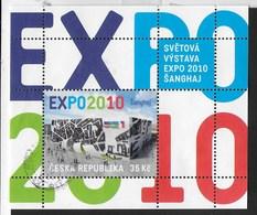 REPUBBLICA CECA - EXPO 2010 SHANGHAI (CHINA) - FOGLIETTO USATO (YVERT 38 - MICHEL 40) - 2010 – Shanghai (China)