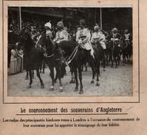 COURONNEMENT SOUVERAINS ANGLETERRE RADJAS HINDOUS INDE PHOTO PRESSE FICHE ???? VERS 1910 ?? - Famous People