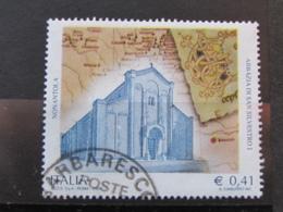 *ITALIA* USATI 2003 - ABBAZIA DI NONANTOLA - SASSONE 2701 - LUSSO/FIOR DI STAMPA - 6. 1946-.. Repubblica
