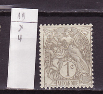 Alexandrie - Alexandria 1902-03 Y&T N°19 - Michel N°16 * - 1c Type Blanc - Alexandrie (1899-1931)