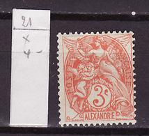 Alexandrie - Alexandria 1902-03 Y&T N°21 - Michel N°18 * - 3c Type Blanc - Alexandrie (1899-1931)