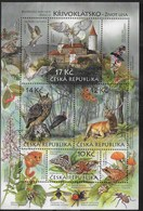 REPUBBLICA CECA - UNESCO - PROTEZIONE DELLA NATURA - FOGLIETTO USATO 2009 (YVERT 36 - MICHEL 38) - Blocchi & Foglietti