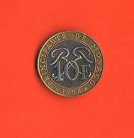 10 Franchi Monaco Principato 10 Francs 1996 Bimetallica Bimetallik - Monaco