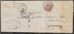 STORIA POSTALE REGNO - ANNULLO DC GRASSANO/(POTENZA) 29.08.1916 SU PIEGO PER MATERA - 1900-44 Victor Emmanuel III
