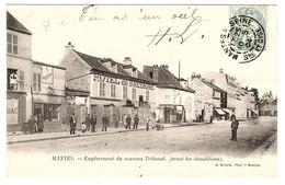 MANTES (78) - Emplacement Du Nouveau Tribunal (avant Les Démolitions) - HOTEL DE BRETAGNE - Ed. R. Girard, Mantes - Mantes La Jolie