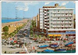 Cp Riccione Bord De La Mer Et Plage  Riccione Lungomare E Spiaggia - Autres Villes