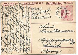 """5 - 74 - Entier Postal """"Carte-réponse"""" Envoyé De Halle En Suisse 1934 - Entiers Postaux"""