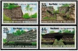 ~~~ Micronesia 1985 - Nan Madol Ruines - Mi. 45/48  ** MNH ~~~ - Micronésie