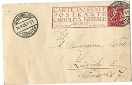 """6 - 19 - Entier Postal """"Carte-réponse"""" Envoyé De Braunsberg En Suisse 1923 - Ganzsachen"""