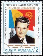 ROMANIA - Scott #3503 Birthday Of President Nicolae Ceaysescu, 70th Anniv. / Used Stamp - 1948-.... Republics