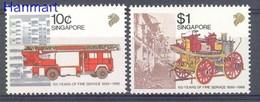 Singapore 1988 Mi 563-564 MNH ( ZS8 SNG563-564 ) - Pompieri