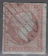 SPAIN    SCOTT NO.  37    USED    YEAR  1855 - Used Stamps