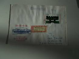 B710  Germania Ddr Unser Los Eine Warnung Fur Euch - FDC: Enveloppes
