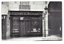 PARIS IXeme (75) - DEPOT E. NICOLAS - 55, Rue De Clichy - BOUTIQUE - Carte Commerciale - Magasins