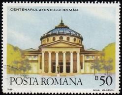 ROMANIA - Scott #3541 Athenaeum, Bucharest (*) / Used Stamp - 1948-.... Republics