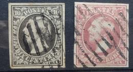 Luxemburg   1852   Nr. 1 - 2 C   Gestempeld    CW 250,00 - 1852 Guillaume III