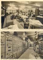 Paquebot Normandie - Lot De 2 Cartes - Tableau Electrique, Salle à Manger 2 Ième Classe - Paquebots