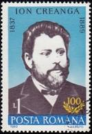 ROMANIA - Scott #3583 Ion Creanga, Writer (*) / Used Stamp - 1948-.... Republics