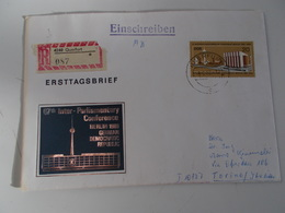 B710  Germania Ddr  Berlino Parlamentary Conference - FDC: Enveloppes